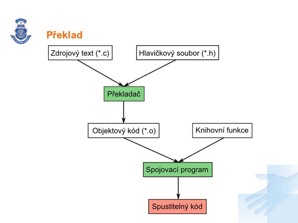 Nadpis Pro definici/pojmenování nových typů – pointery typedef int *P_INT; P_INT p_int; Pro definici/pojmenování nových typů – struktury (viz dále) Přiklad (pointer na pointer) typedef int *P_INT; typedef P_INT *P_P_INT; P_P_INT p_p_i; //totez znamym zpusobem int **p_p_int; Definice typů - typedef
