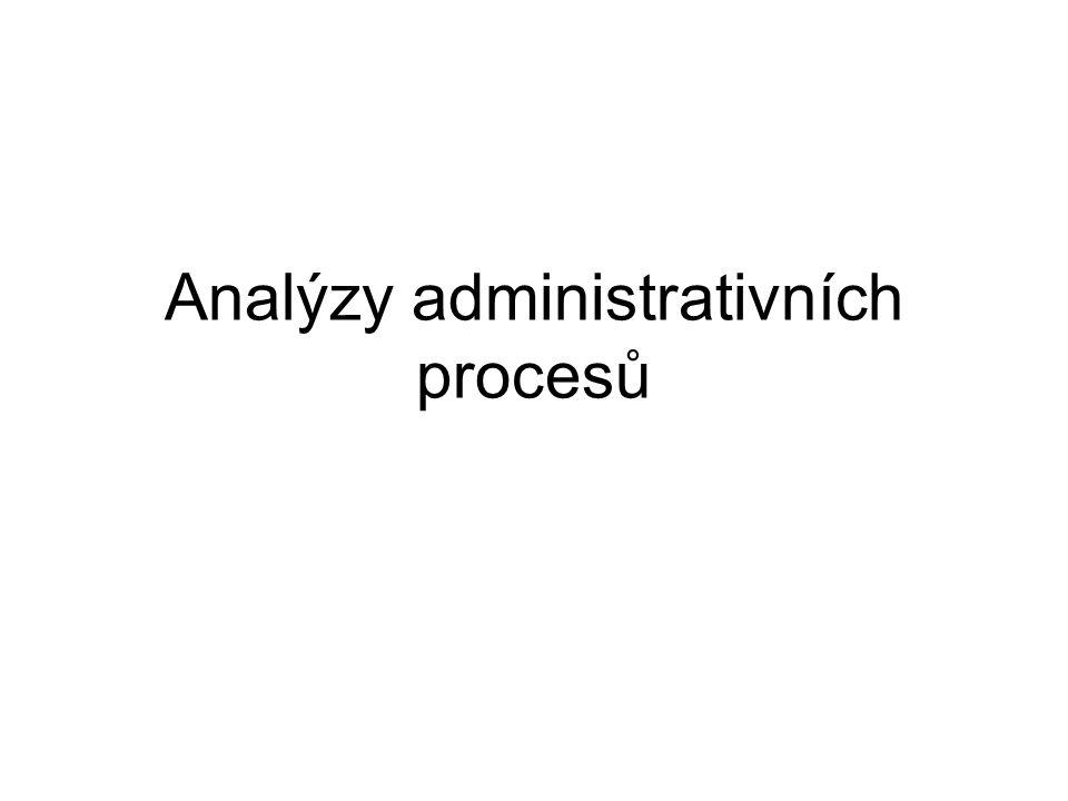 Analýzy administrativních procesů