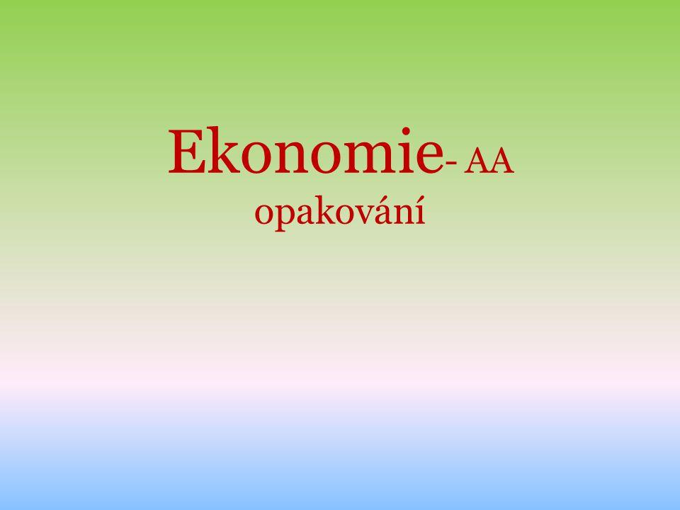 Ekonomie - AA opakování