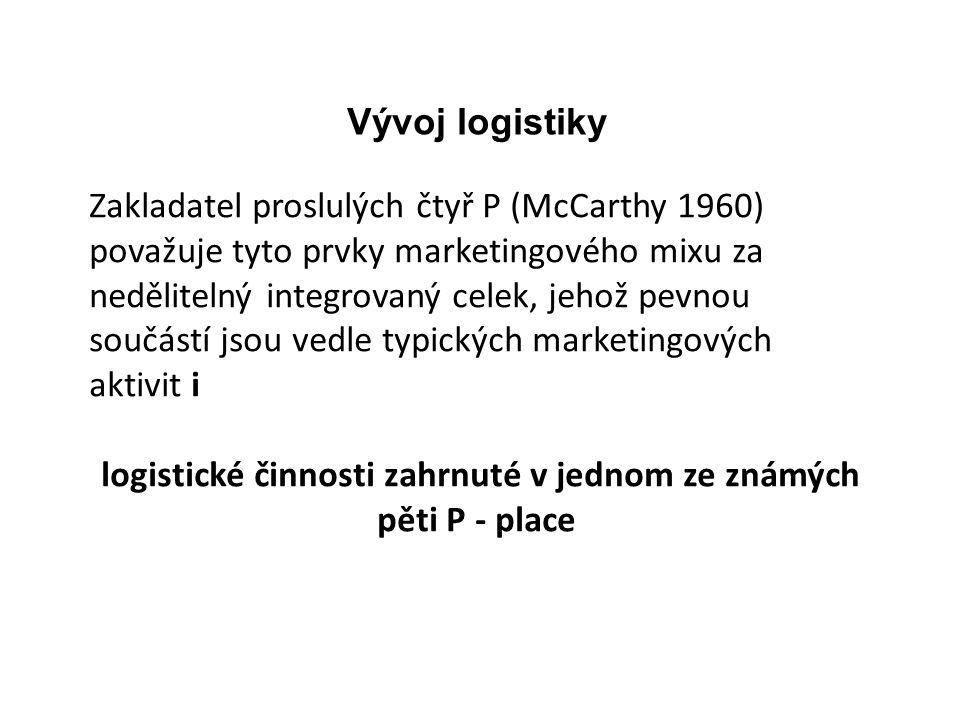 Zakladatel proslulých čtyř P (McCarthy 1960) považuje tyto prvky marketingového mixu za nedělitelný integrovaný celek, jehož pevnou součástí jsou vedl