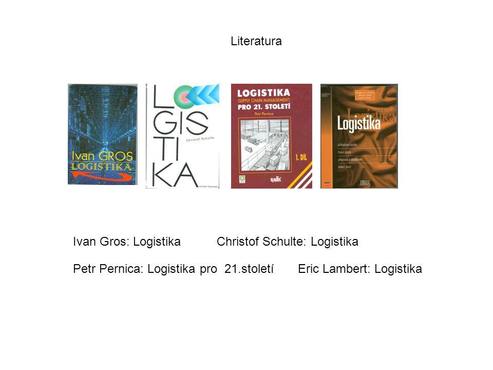 Literatura Ivan Gros: LogistikaChristof Schulte: Logistika Petr Pernica: Logistika pro 21.stoletíEric Lambert: Logistika