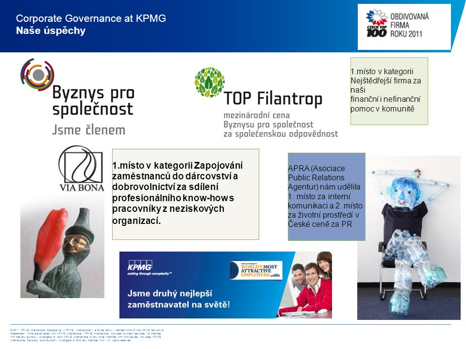 © 2011 KPMG International Cooperative ( KPMG International ), a Swiss entity.