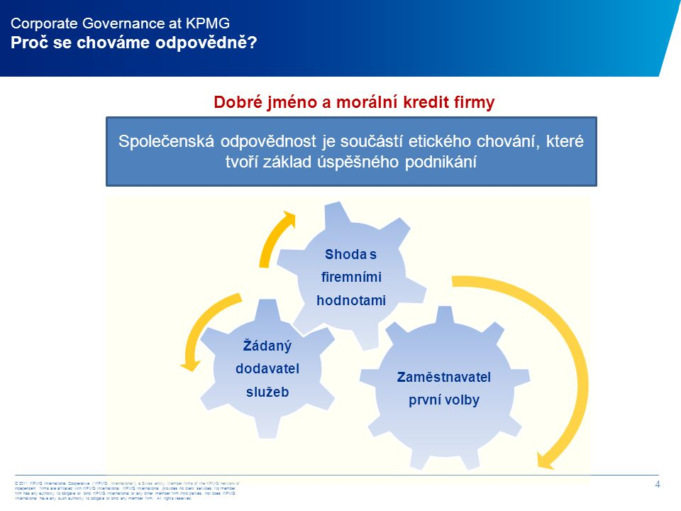 """© 2011 KPMG International Cooperative (""""KPMG International""""), a Swiss entity. Member firms of the KPMG network of independent firms are affiliated wit"""