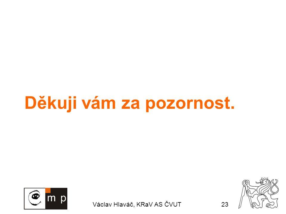 Václav Hlaváč, KRaV AS ČVUT23 Děkuji vám za pozornost.