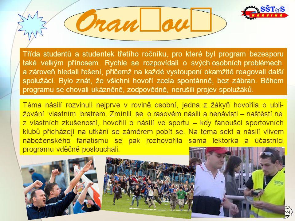  Třída studentů a studentek třetího ročníku, pro které byl program bezesporu také velkým přínosem.