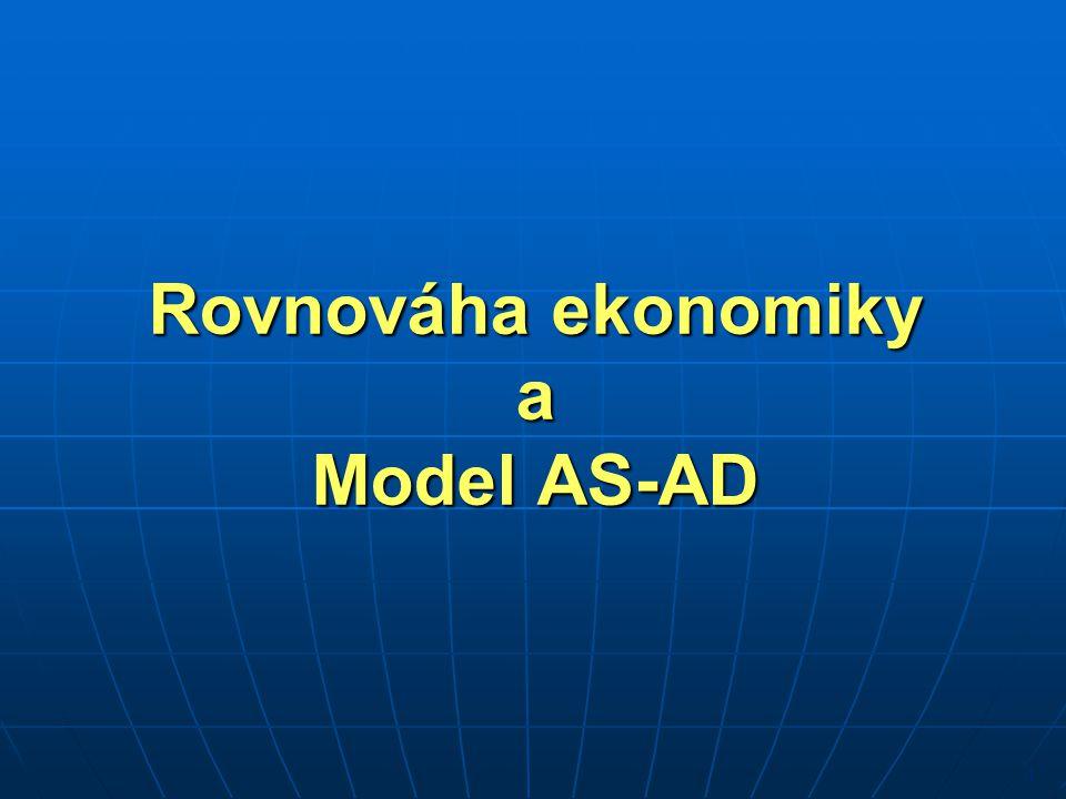 Rovnováha ekonomiky a Model AS-AD 1