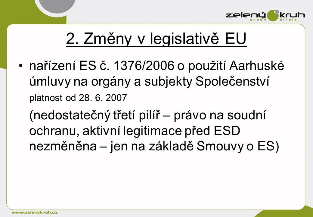2. Změny v legislativě EU nařízení ES č.