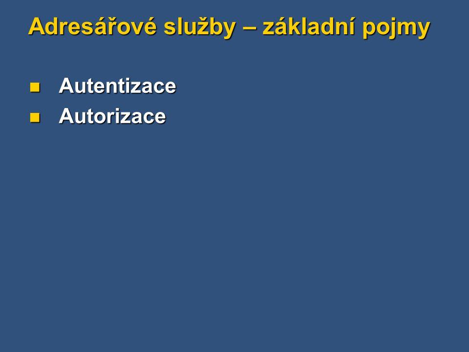Active Directory - termíny Organizační jednotka ( Organization unit ) zkratka - OU Nejnižší forma seskupování objektů v Active Directory Nejnižší forma seskupování objektů v Active Directory Skupinová politika může být uplatňována na úrovni organizační jednotky Skupinová politika může být uplatňována na úrovni organizační jednotky Může být vnořena až do hloubky 12 úrovní Může být vnořena až do hloubky 12 úrovní Organizační jednotka je graficky reprezentována kružnicí Organizační jednotka je graficky reprezentována kružnicí