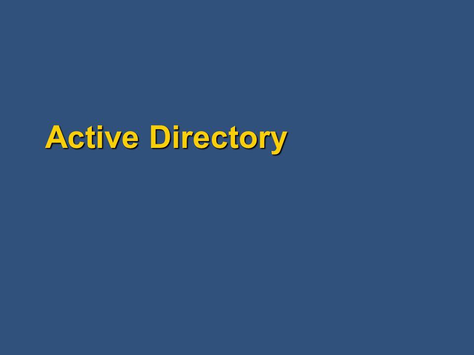 Active Directory - termíny Les (Forest) Les (Forest) Spojená skupina doménových stromů, která: Spojená skupina doménových stromů, která: Používá stejné schéma Používá stejné schéma Sdílí stejný Globální Katalog Sdílí stejný Globální Katalog Je spojená důvěrou Kerberosu Je spojená důvěrou Kerberosu Velmi užitečné pro pobočky firem, které vyžadují autonomii v administrativních úlohách Velmi užitečné pro pobočky firem, které vyžadují autonomii v administrativních úlohách Poskytuje prostor pro více internetových jmen (microsoft.com, msnbc.com, atd.) Poskytuje prostor pro více internetových jmen (microsoft.com, msnbc.com, atd.)