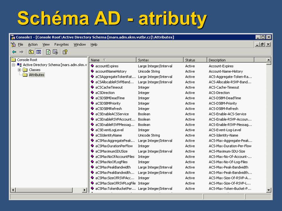 Active Directory - termíny Doména (Domain) Základní jednotka AD, tvoří ji min.