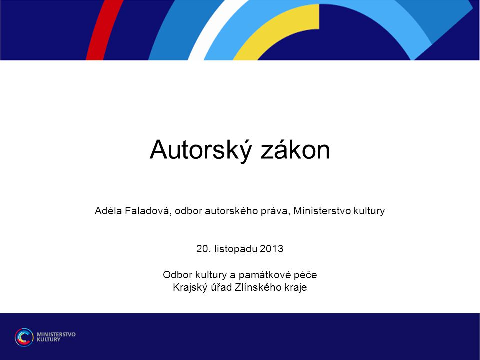Děkuji za pozornost. adela.faladova@mkcr.cz adela.faladova@mkcr.cz ¨