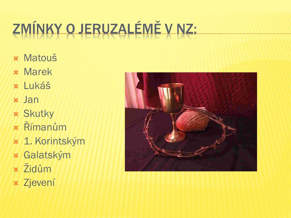 Matouš  Marek  Lukáš  Jan  Skutky  Římanům  1. Korintským  Galatským  Židům  Zjevení