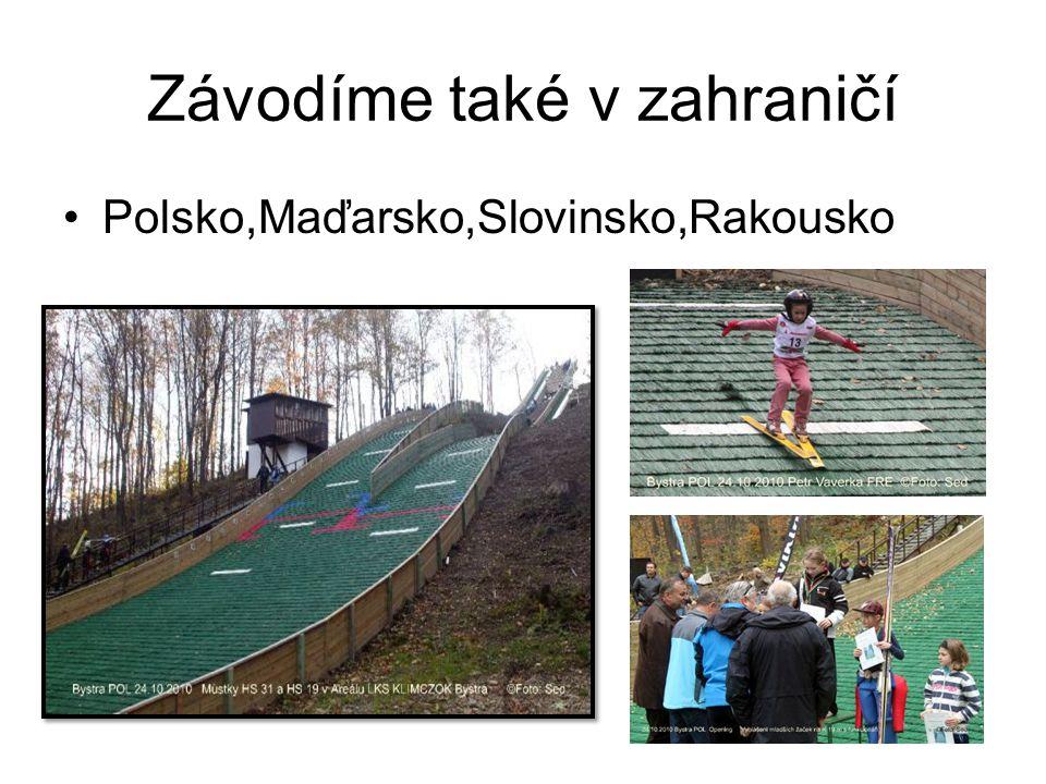 Závodíme také v zahraničí Polsko,Maďarsko,Slovinsko,Rakousko