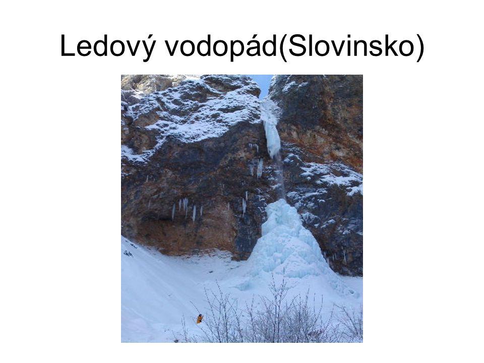 Ledový vodopád(Slovinsko)