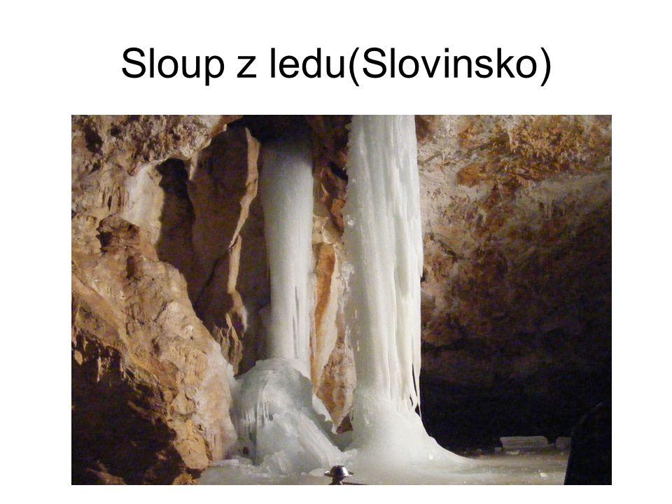 Sloup z ledu(Slovinsko)