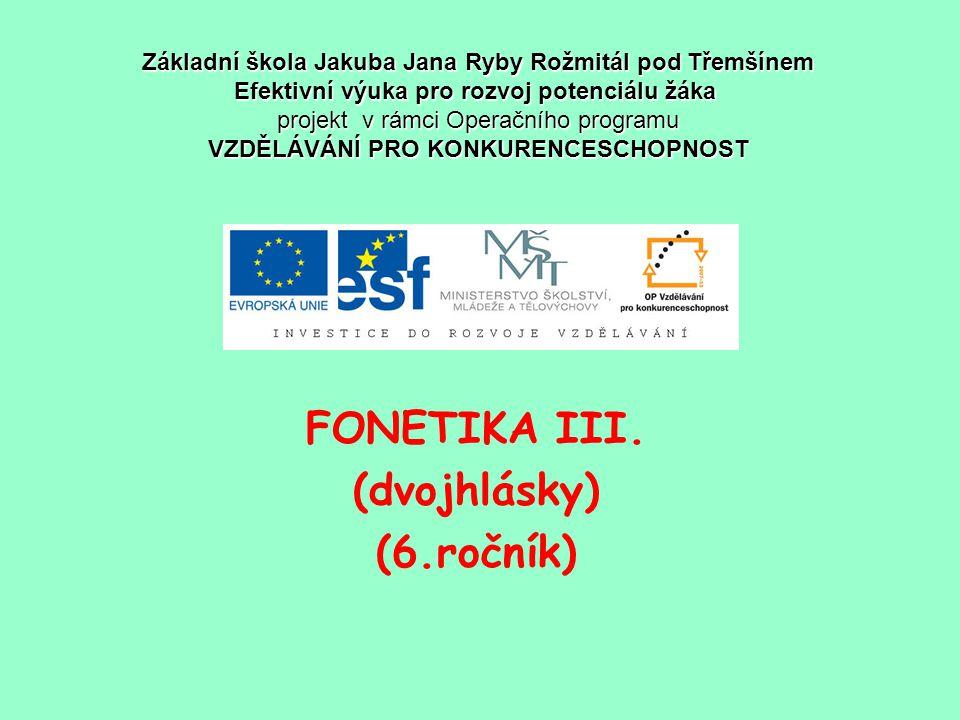 FONETIKA III.