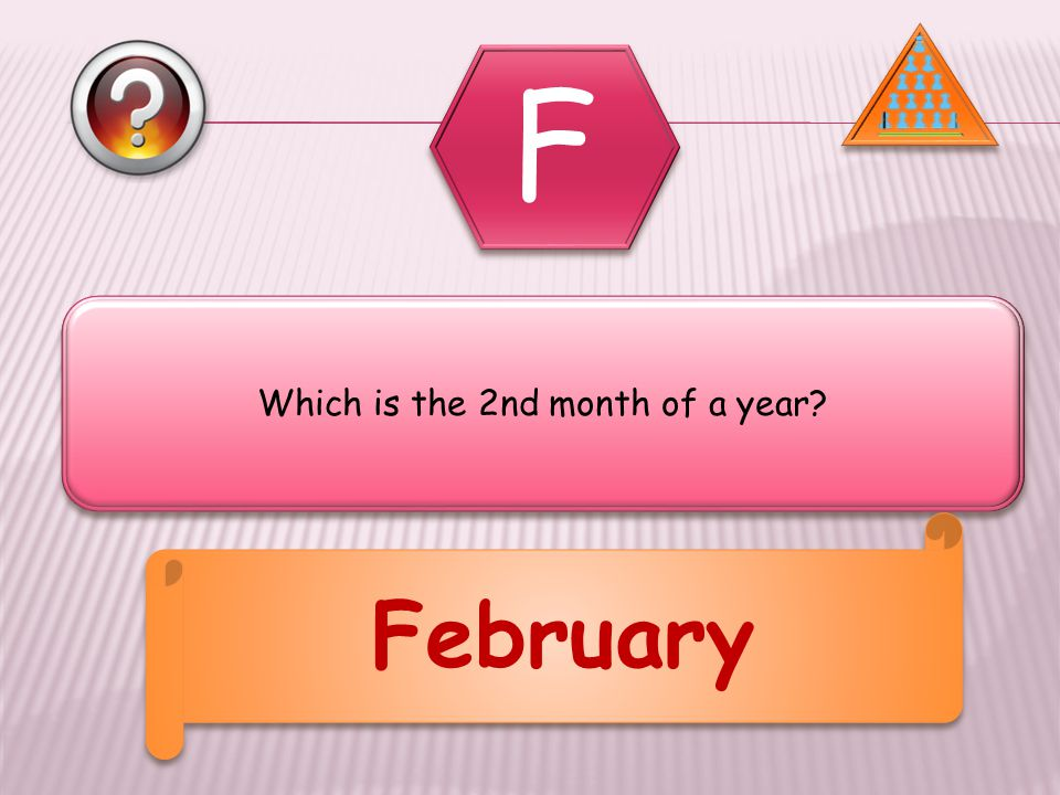 Which is the 2nd month of a year February