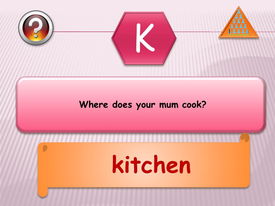 Where does your mum cook kitchen