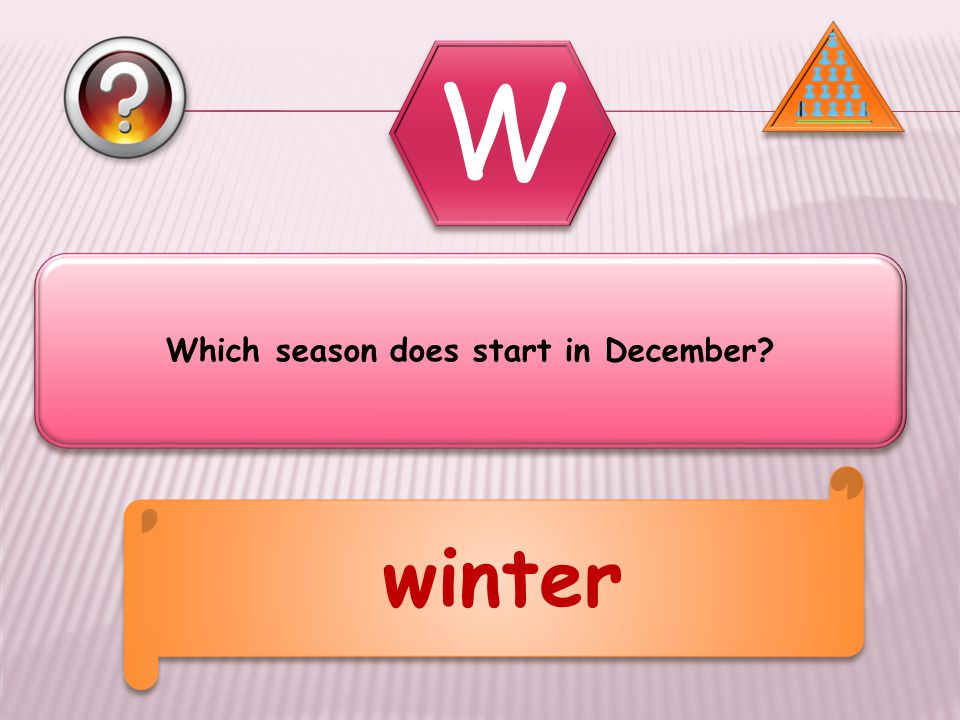 Which season does start in December winter