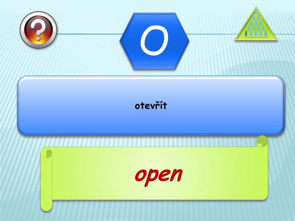 otevřít open