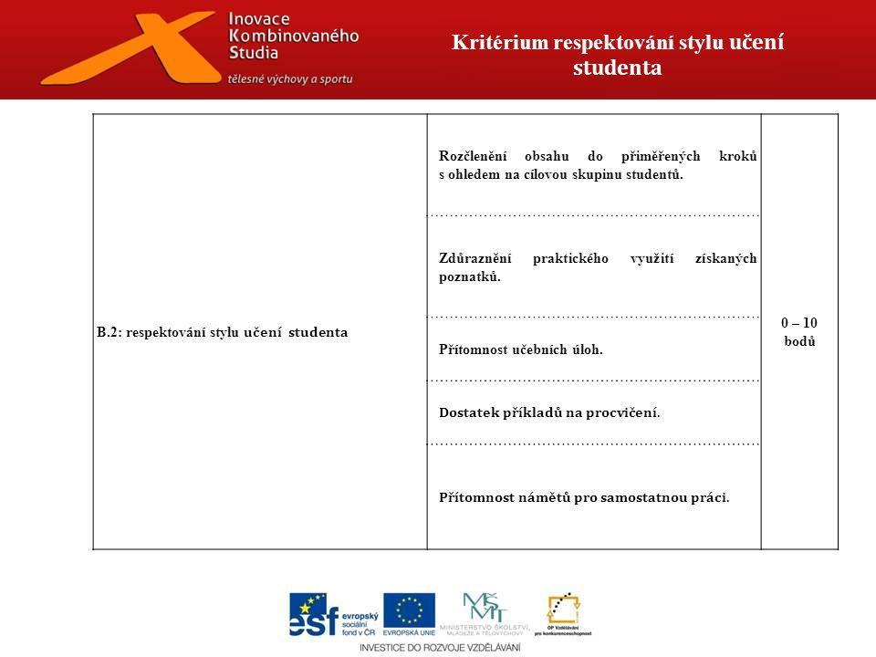 Kritérium vzdělávací obsah a jeho forma B.3:vzdělávací obsah a jeho forma Přiměřená četnost abstraktních pojmů.