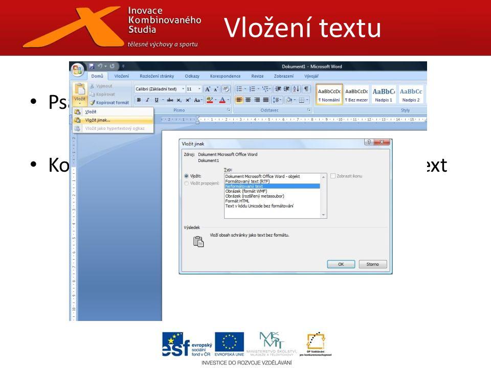 Samostatné soubory Připojit k souboru Odeslat s textem Název souboru i adresáře bez mezer a diakritiky Max.