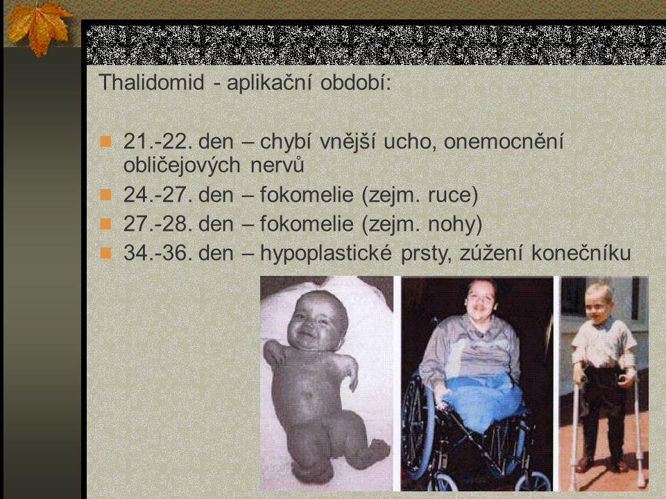 Thalidomid - aplikační období: 21.-22.