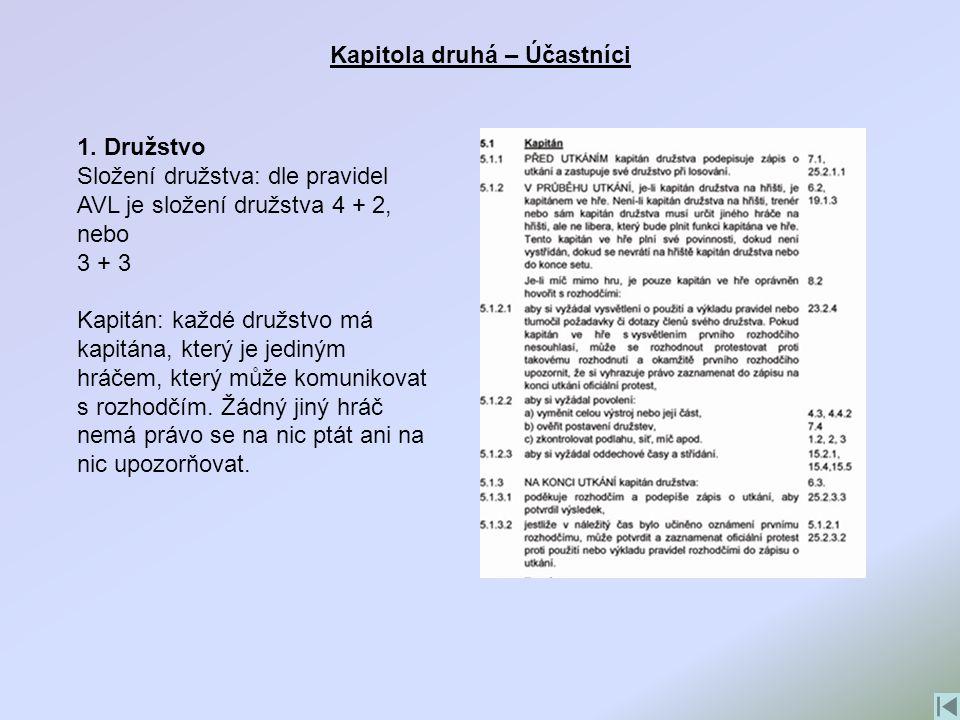 Kapitola třetí – Uspořádání hry 2.Struktura hry Losování: před utkáním se provádí losování.