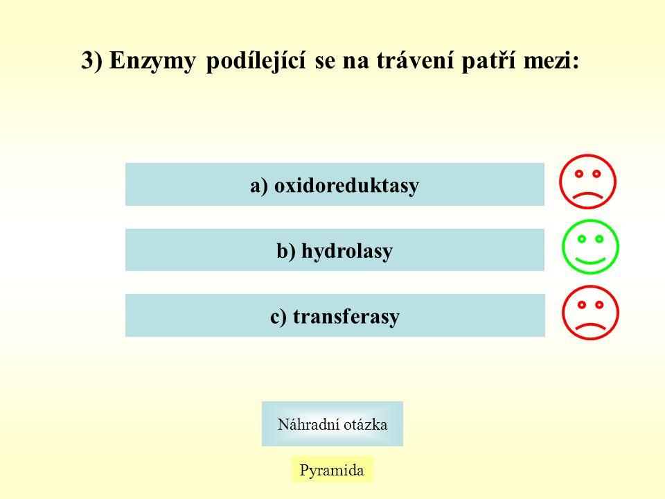 24) Enzym se nachází již v ústech, kde hydrolyzuje škrob za vzniku oligosacharidů.