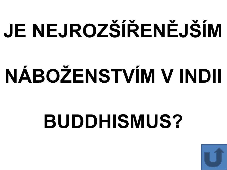 JE NEJROZŠÍŘENĚJŠÍM NÁBOŽENSTVÍM V INDII BUDDHISMUS?