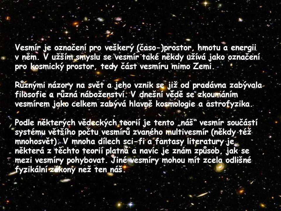 Jedním ze zásadních kosmologických objevů učiněných v 20.