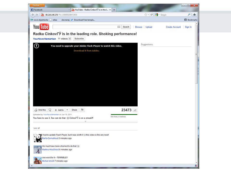 """Na konci řetězce se nachází: nic (pouze se nám to bude """"líbit ) vysněné video webová stránka zvyšující si návštěvnost lidskou blbostí podvodná(?) webová stránka tahající z lidí peníze havěť"""