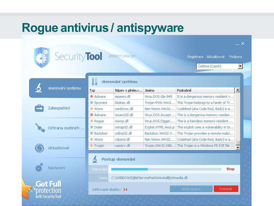 Rogue antivirus / antispyware