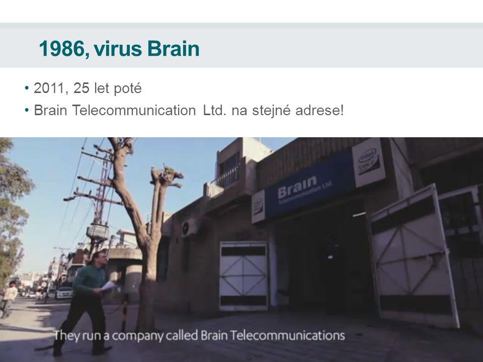 1986, virus Brain 2011, 25 let poté Brain Telecommunication Ltd. na stejné adrese!