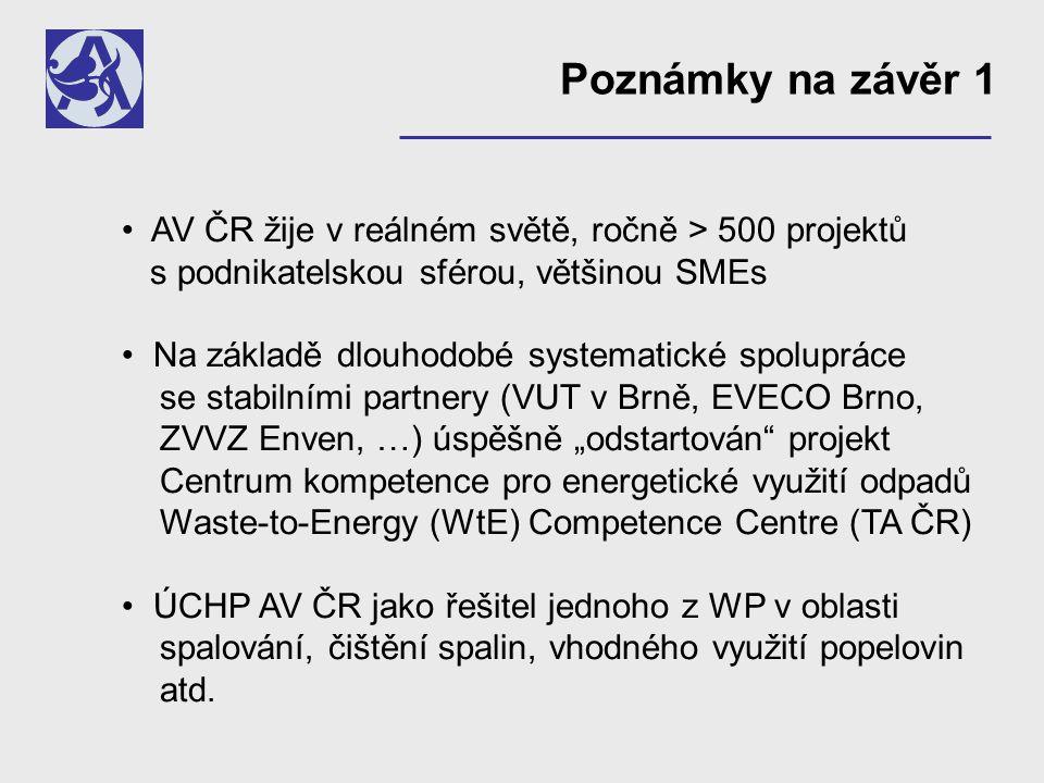 Nová strategie rozvoje AV ČR Výzkumný okruh: Zdroje a využití energie Výzkumný program: Účinná přeměna a skladování energie
