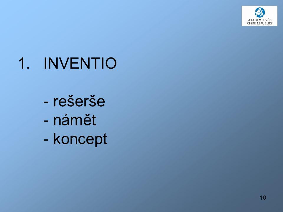 10 1.INVENTIO - rešerše - námět - koncept