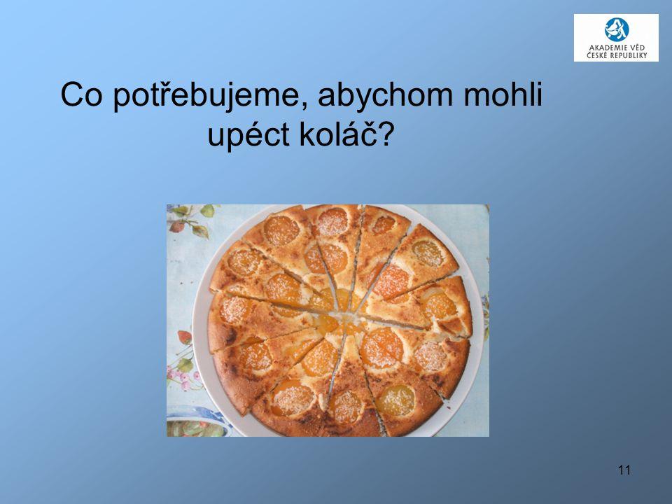 11 Co potřebujeme, abychom mohli upéct koláč?
