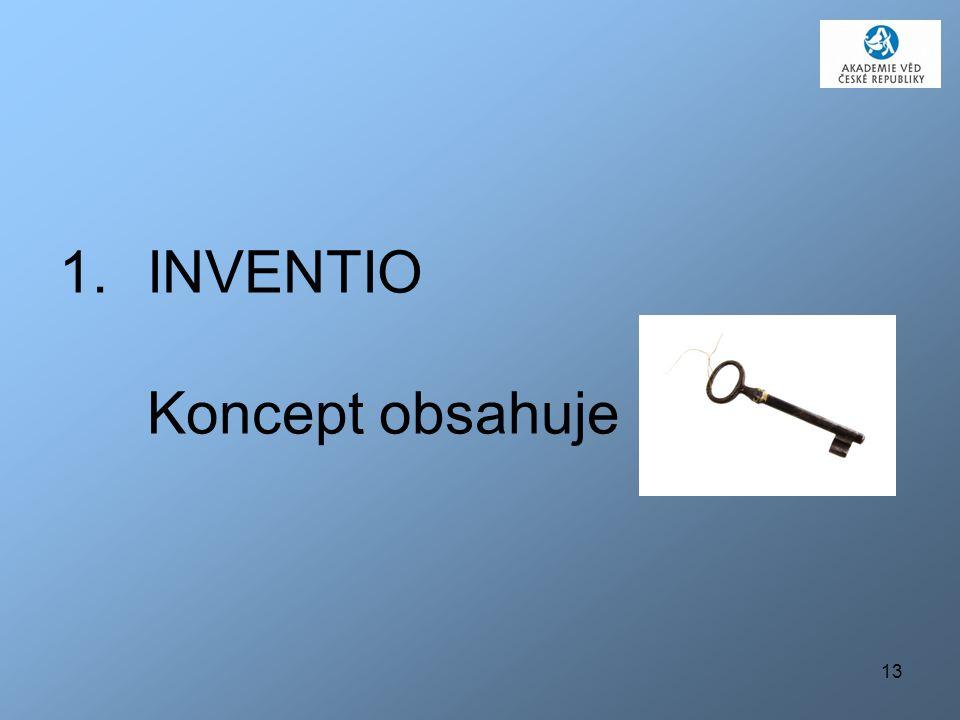 13 1.INVENTIO Koncept obsahuje