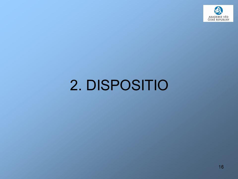 16 2. DISPOSITIO