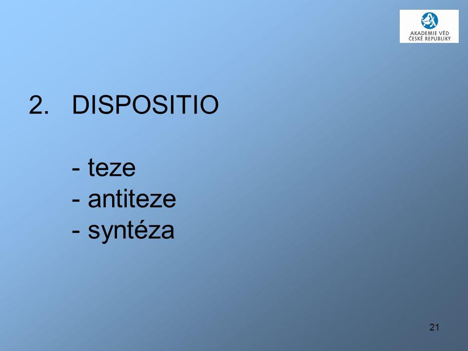 21 2.DISPOSITIO - teze - antiteze - syntéza