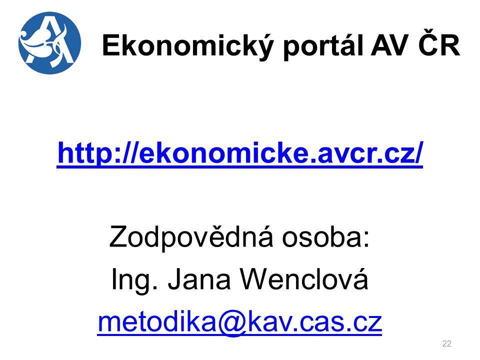 Ekonomický portál AV ČR 23