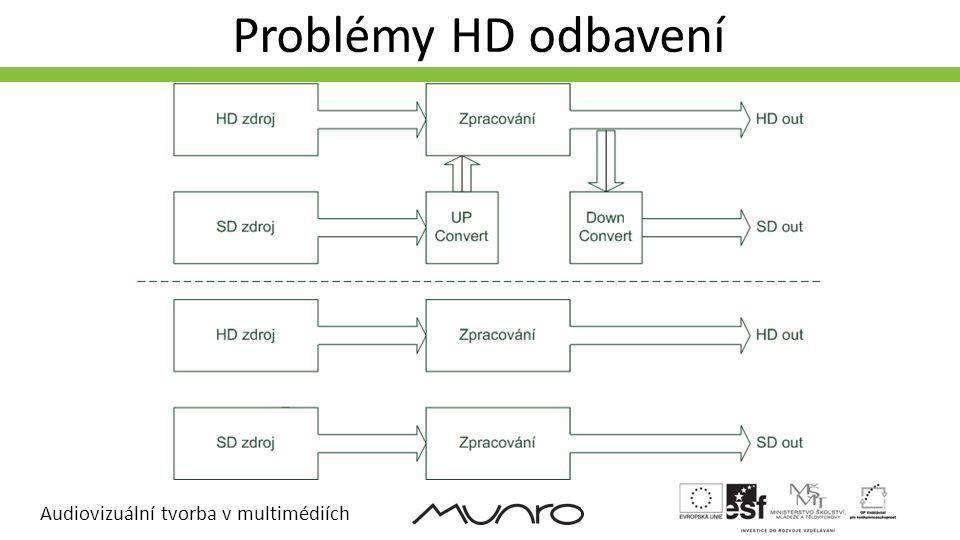 Audiovizuální tvorba v multimédiích Problémy HD odbavení