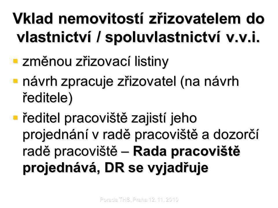 Porada THS, Praha 12.11. 2010 Majetek v.v.i.  Nejedná se o soukromý majetek.