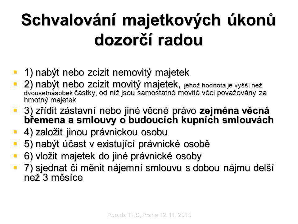 Porada THS, Praha 12.11. 2010 Nájemní vztahy mezi v.v.i.