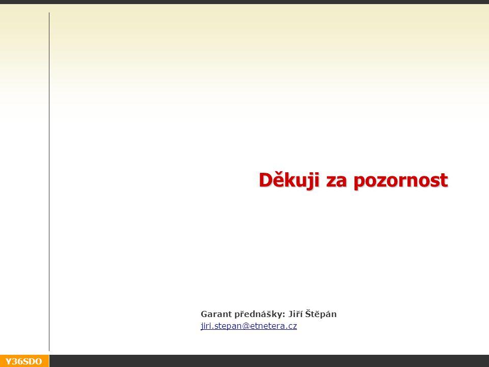 Y36SDO Děkuji za pozornost Garant přednášky: Jiří Štěpán jiri.stepan@etnetera.cz