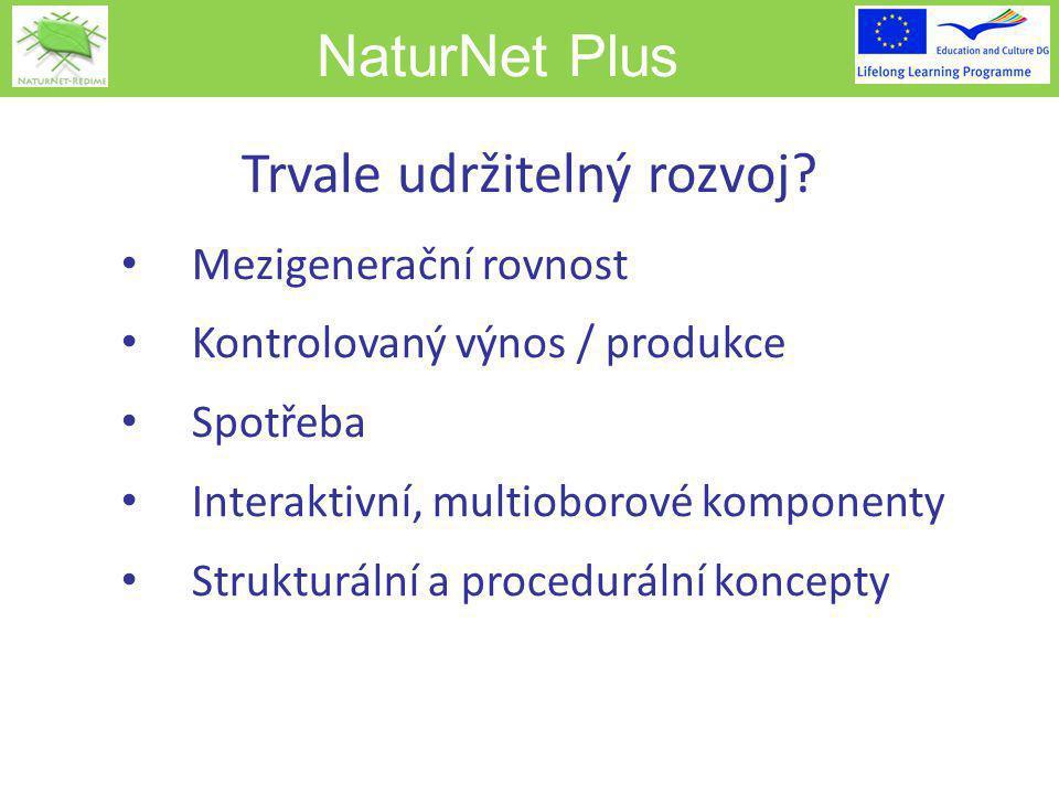 NaturNet Plus Trvale udržitelný rozvoj.
