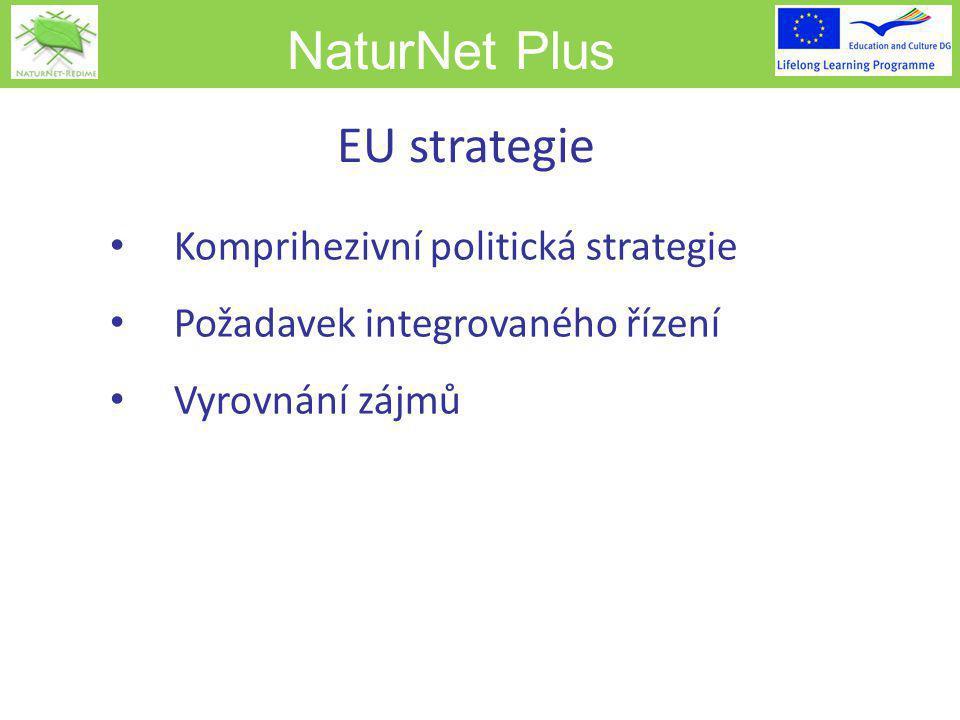 NaturNet Plus EU strategie Komprihezivní politická strategie Požadavek integrovaného řízení Vyrovnání zájmů