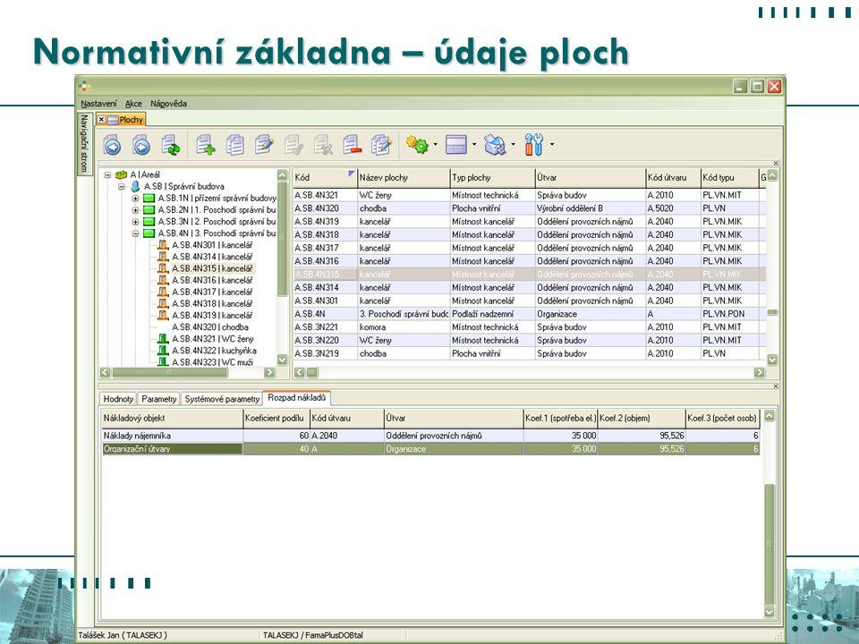 Konference VYKUROVANIE 2007 2. 3. 2007 - Tatranské Matliare Energetické parametry Přesné údaje o velikosti plochy, využívání a energetické náročnosti