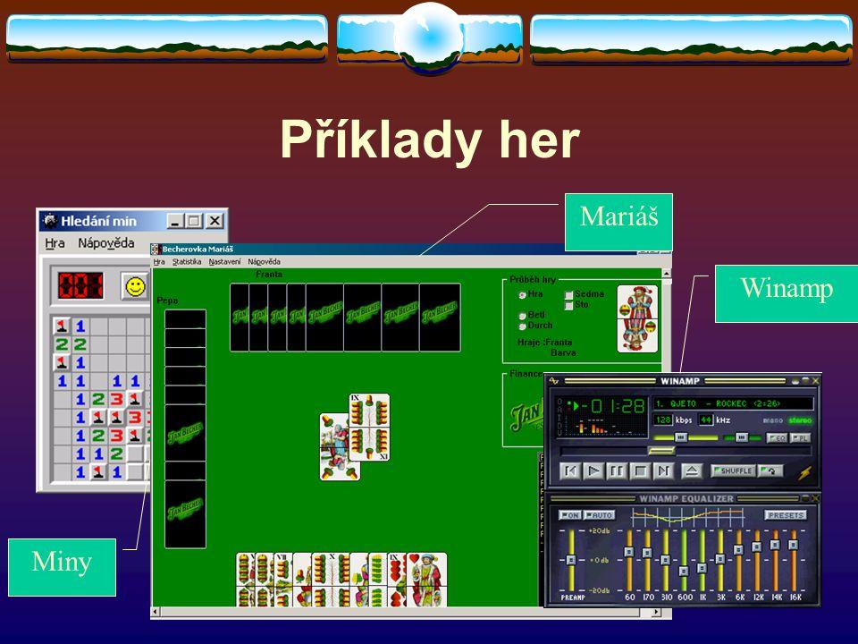 Příklady her Miny Mariáš Winamp