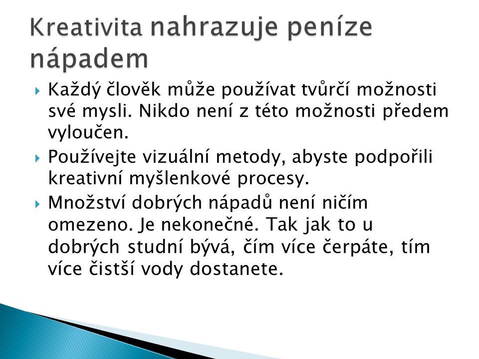  Každý člověk může používat tvůrčí možnosti své mysli.